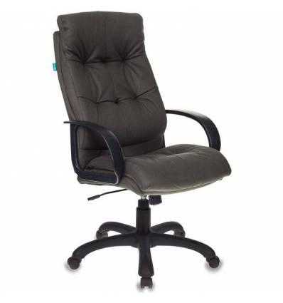Кресло Бюрократ CH-824B/F4 для руководителя, искусственный нубук, цвет темно-серый
