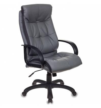 Кресло Бюрократ CH-824B/LGREY для руководителя, экокожа, цвет серый