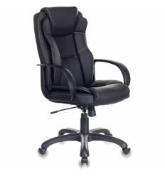 Кресло Бюрократ CH-839/BLACK (Пегас) для руководителя, экокожа, цвет черный