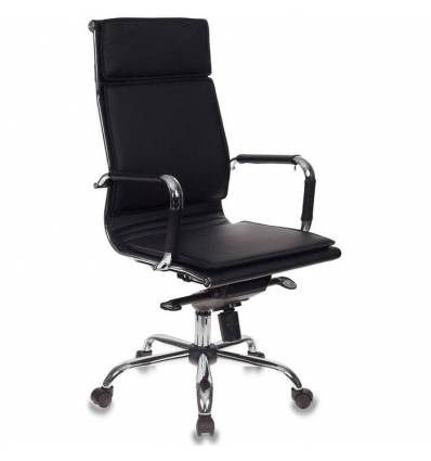 Кресло Бюрократ CH-993MB/BLACK для руководителя, экокожа, цвет черный