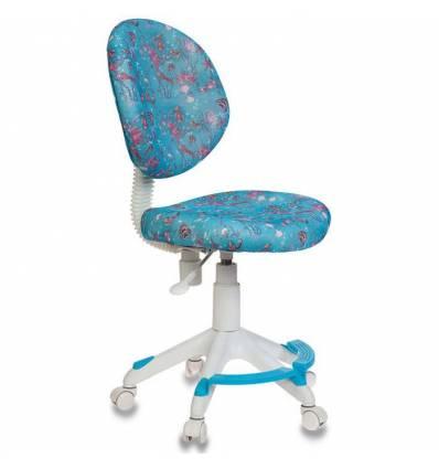 Кресло Бюрократ KD-W6-F/AQUA детское, цвет голубой аквариум