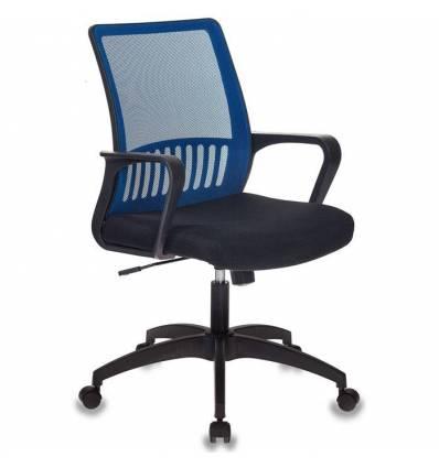 Кресло Бюрократ MC-201/BL/TW-11 для оператора, цвет синий/черный, спинка сетка