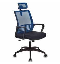Кресло Бюрократ MC-201-H/BL/TW-11 для оператора, цвет синий/черный, спинка сетка