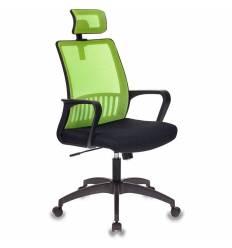 Кресло Бюрократ MC-201-H/SD/TW-11 для оператора, цвет салатовый/черный, спинка сетка