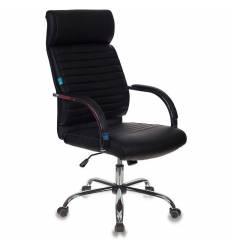 Кресло Бюрократ T-8010SL/BLACK для руководителя, экокожа, цвет черный