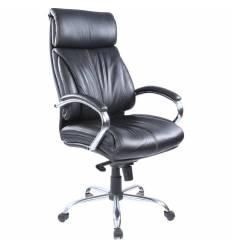 Кресло Бюрократ T-9000SL/BLACK для руководителя, кожа , цвет черный