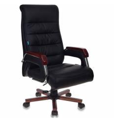 Кресло Бюрократ T-9909WALNUT/BLACK  для руководителя, экокожа, цвет черный