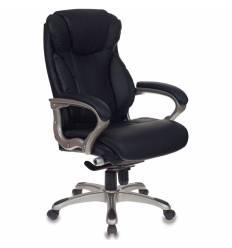 Кресло Бюрократ T-9916/BLACK для руководителя, рециклированная кожа, цвет черный