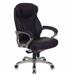 Кресло Бюрократ T-9916/BROWN для руководителя, рециклированная кожа, цвет коричневый