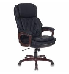 Кресло Бюрократ T-9918/BLACK  для руководителя, рециклированная кожа, цвет черный