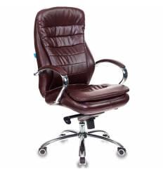 Кресло Бюрократ T-9950AXSN/BROWN-PU  для руководителя, экокожа, цвет коричневый