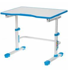 Стол Бюрократ CONDUCTOR-001/BLUE детский, школьная парта, цвет белый/голубой