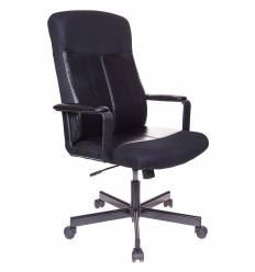 Кресло Бюрократ DOMINUS-KTW для руководителя, ткань/экокожа, цвет черный