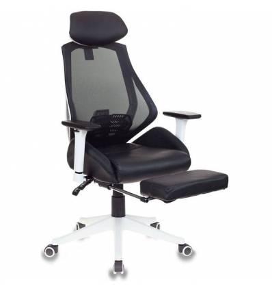 Кресло Бюрократ CH-W770/BLACK игровое, сетка/экокожа, цвет черный