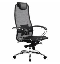 Кресло Samurai S-1.02 Black для руководителя, сетка, цвет черный