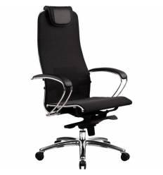 Кресло Samurai S-1.02 Black Plus  для руководителя, сетка, цвет черный