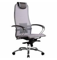 Кресло Samurai S-1.02 Grey для руководителя, сетка, цвет серый