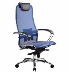 Кресло Samurai S-1.02 Blue для руководителя, сетка, цвет синий
