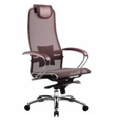 Кресло Samurai S-1.02 Bordeaux для руководителя, сетка, цвет бордовый
