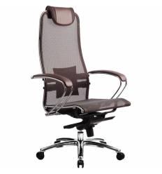 Кресло Samurai S-1.02 Dark Brown для руководителя, сетка, цвет темно-коричневый