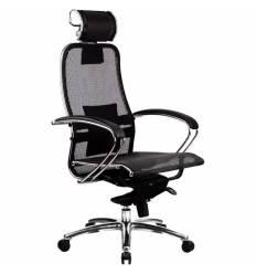 Кресло Samurai S-2.02 Black для руководителя, сетка, цвет черный