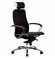 Кресло Samurai S-2.02 Black Plus для руководителя, сетка, цвет черный