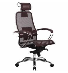 Кресло Samurai S-2.02 Bordeaux для руководителя, сетка, цвет бордовый