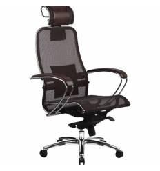 Кресло Samurai S-2.02 Dark Brown для руководителя, сетка, цвет темно-коричневый