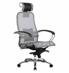 Кресло Samurai S-2.02 Grey для руководителя, сетка, цвет серый