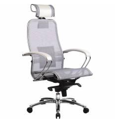 Кресло Samurai S-2.02 White Swan для руководителя, сетка, цвет белый лебедь