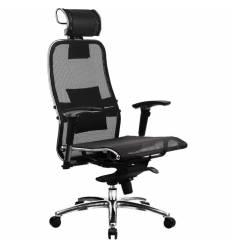 Кресло Samurai S-3.02 Black для руководителя, сетка, цвет черный