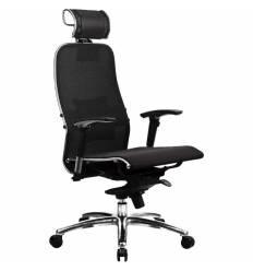 Кресло Samurai S-3.02 Black Plus для руководителя, сетка, цвет черный
