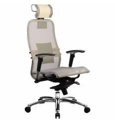Кресло Samurai S-3.02 Beige для руководителя, сетка, цвет бежевый