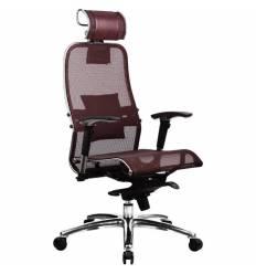 Кресло Samurai S-3.02 Bordeaux для руководителя, сетка, цвет бордовый