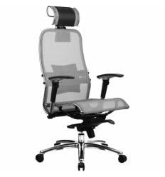 Кресло Samurai S-3.02 Grey для руководителя, сетка, цвет серый