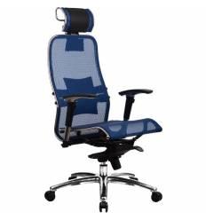 Кресло Samurai S-3.02 Blue для руководителя, сетка, цвет синий