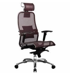 Кресло Samurai S-3.02 Dark Brown для руководителя, сетка, цвет темно-коричневый