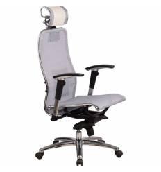 Кресло Samurai S-3.02 White Swan для руководителя, сетка, цвет белый лебедь