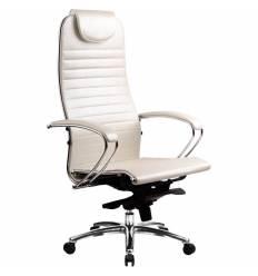 Кресло Samurai K-1.02 White Swan для руководителя, кожа, цвет белый лебедь