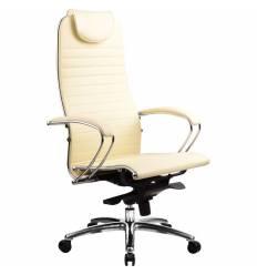 Кресло Samurai K-1.02 Beige для руководителя, кожа, цвет бежевый