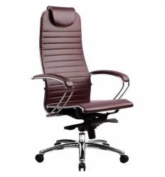 Кресло Samurai K-1.02 Bordeaux для руководителя, кожа, цвет бордовый