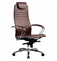 Кресло Samurai K-1.02 Dark Brown для руководителя, кожа, цвет темно-коричневый
