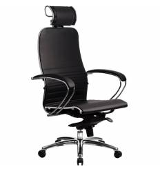 Кресло Samurai K-2.02 Black для руководителя, кожа, цвет черный