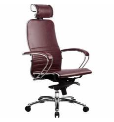Кресло Samurai K-2.02 Bordeaux для руководителя, кожа, цвет бордовый