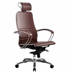 Кресло Samurai K-2.02 Dark Brown для руководителя, кожа, цвет темно-коричневый
