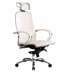 Кресло Samurai K-2.02 White Swan для руководителя, кожа, цвет белый лебедь