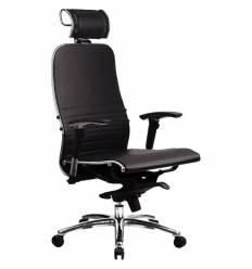 Кресло Samurai K-3.02 Black для руководителя, кожа, цвет черный