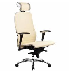 Кресло Samurai K-3.02 Beige для руководителя, кожа, цвет бежевый