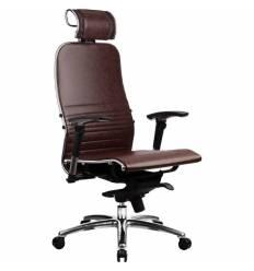 Кресло Samurai K-3.02 Dark Brown для руководителя, кожа, цвет темно-коричневый