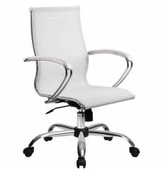 Кресло SkyLine S-2 (С, Ch) белый лебедь для руководителя, сетка